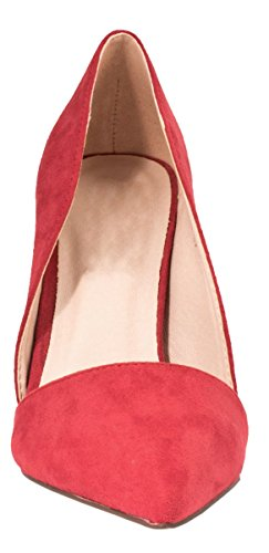 Elara Damen Pumps | Spitze Stiletto High Heels | Moderne Pumps Rot