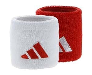 ADIDAS Rouge & Blanc Bandeau pour Poignet de Tennis, Rouge/Blanc