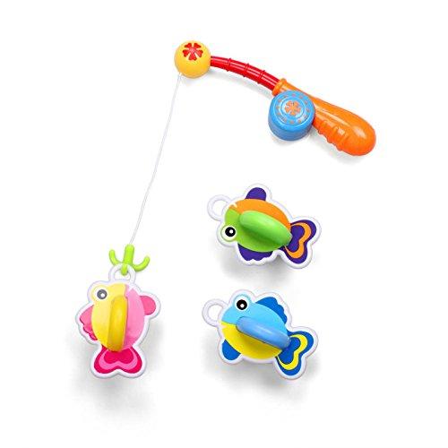 Chickwin ~ Juguetes de baño juego de pesca con lindo pescado para niños baño de baño jugar agua en la bañera de la piscine (Style 3)