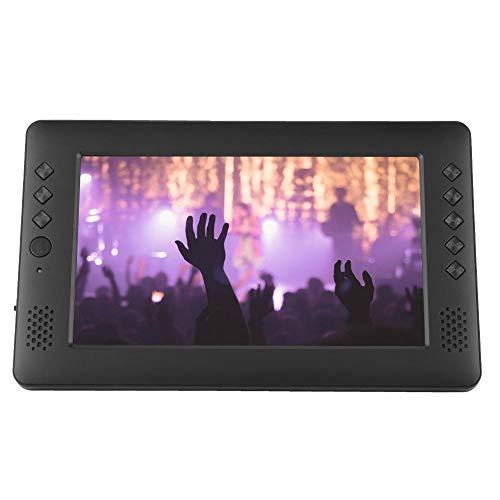 Bewinner 9 '' Portable DVB-T / T2 Digitalfernseher Auto Monitor DVD-Player Tragbarer TV-System HD-Player mit WLAN-Antennenfernbedienung Multifunktionaler Digital-TV für Car Indoor