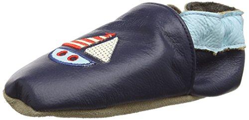 Rose & Chocolat Sailboat Navy, Chaussures de Naissance Mixte Bébé bleu (Navy)