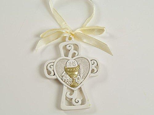 12 pezzi bomboniere prima comunione bimbo bimba appendino croce sacra dgs50307