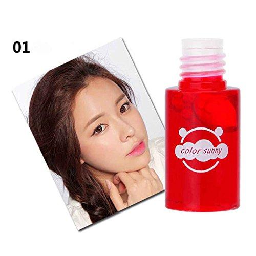 LUFA Sunny color 4 colores 12 Horas de larga duración Lip Stain Liquid Lipstick Lip Gloss Cosméticos Tinte de labios Makup