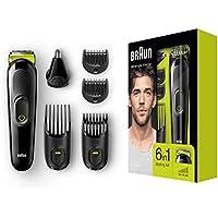 Braun MGK3021 6-in-1 Multi-Grooming-Kit, für Bart, Kopf und Körper, schwarz/grün