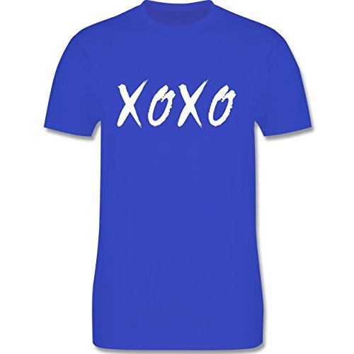 Statement Shirts - XOXO - Hugs and Kisses - Herren Premium T-Shirt Royalblau