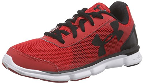 Under Armour Ua Bgs Micro G Speed Swift, Chaussures de course garçon Rouge - Rot (RED/WHT/BLK 600)
