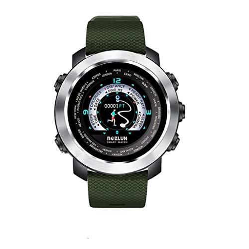 LQIAN W30-B Smartwatch, Bluetooth Smartwatch-Schrittzähler/Kalorienverbrauch/Distanz/Herzfrequenzmonitor/Schlafmonitor mit IP67 Wasserdichtes schwimmendes Blutdruckmessgerät für iOS Android -
