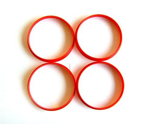 4x Anelli rubinetto in lega Hub Centric Anelli 65,1-63,4 - Quattro Hub Centric Anelli