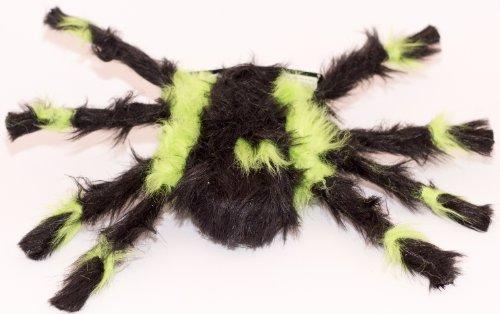 Deko-Spinne behaart, schwarz-grün 30 (Schwarze Spinne Behaarte)