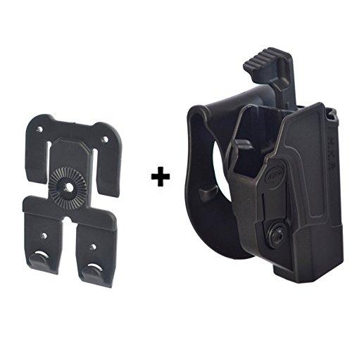 ORPAZ Defense Taktisch verstellbar Paddle Pistole Active Retention Mit Thumb Release Sicherheit + Molle Adapter Attachment für Heckler Koch H&K USP COMPACT 9 / .40 / USP - 45. 45C. BUL M-5 -