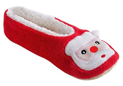Ballet Slippers Mesdames Père Noël Rouge