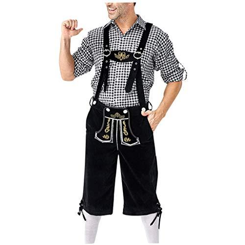 Bein Traditionellen Fit-jeans (Setsail Freizeit Sets Deutsches traditionelles Bierfestival, das Kariertes Hemd kleidet, stickt Hosenträger-Anzug)