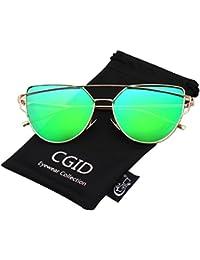 CGID MJ74 Lunettes de Soleil Polarisées Oeil de chat Cateye Modernes et  Fashion Réfléchissantes ... 431074dd3894