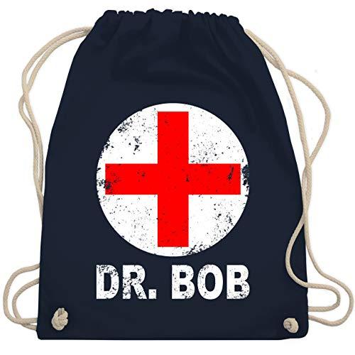 Karneval & Fasching - Dr. Bob Kostüm Kreuz - Unisize - Navy Blau - WM110 - Turnbeutel & Gym Bag