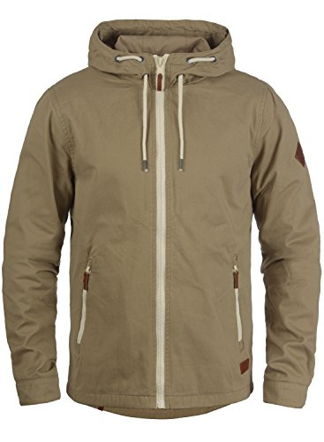 Blend Bobby Herren Übergangsjacke Herrenjacke Jacke gefüttert mit Kapuze, Größe:3XL, Farbe:Safari Brown (75115)