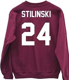 HippoWarehouse Stilinski 24 (Impreso en la Espalda) Jersey Sudadera suéter Derportiva Unisex