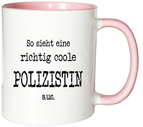 Mister Merchandise Kaffeetasse So Sieht eine richtig Coole Polizistin aus. Teetasse Becher, Farbe: - Mathe Nerd Kostüm