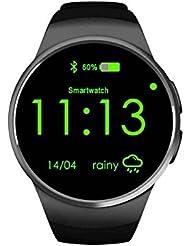 Pantalla táctil Smartwatch teléfono con ranura para tarjeta SIM, HD Bluetooth Smart muñeca reloj deportivo cámara iOS Android, reloj inteligente y reproductor de vídeo, visión nocturna Bluetooth reloj para mujer reloj deportivo Hombres, Active Tracker reloj
