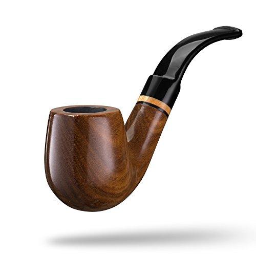 A.P. Donovan - Tabak-Pfeife klassisch handgemacht (auch für Einsteiger/Anfänger) aus Guajakholz - für 9mm Filter - Holz (Cabracán) -