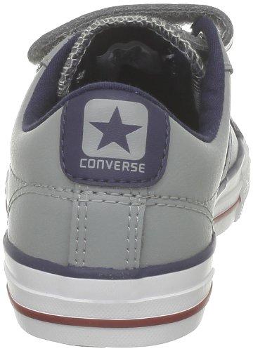 Converse Sp Ev 3V Lea Ox 290330-31-12 Unisex - Kinder Sneaker Grau (Gris/Marine)