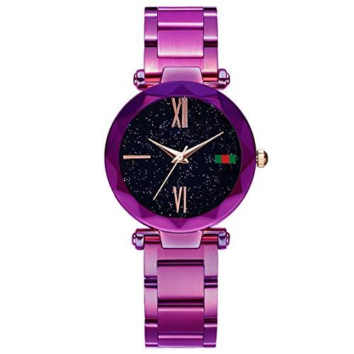 Hannah martin smael orologi da polso impermeabili magnetici elettronici per le donne,purpled4greenlabel