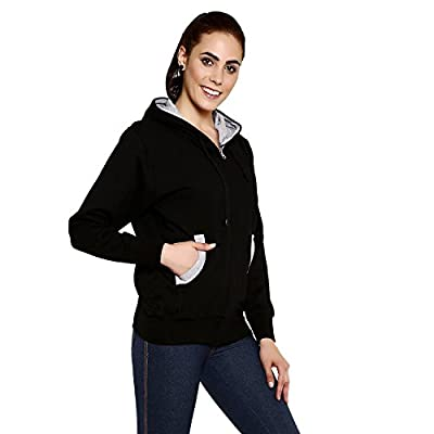 GOODTRY Women's Cotton Hoodies-Black