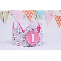 Corona cumpleaños niña decoración de fiesta infantil adorno para fotografías