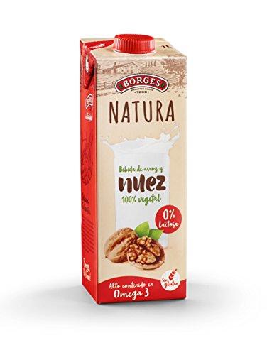 Borges Natura - Bebida de Nuez y Arroz 100% Vegetal, Sin Lactosa Ni Gl