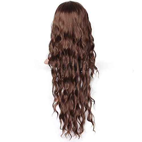 Long Brown Wave Synthetic HairUpdo Buns Wig Women Female Cosplay Costume Wig Party Anime Halloween Wigs (Light ()