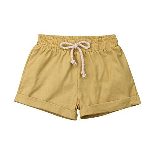 YpingLonk ♥ Sommer Kinder Jungen Mädchen PP Casual Jogginghose Shorts elastische Taille Hosen Kleidung Einfarbige PP-Hosen für Kinder, Kurze Sporthose
