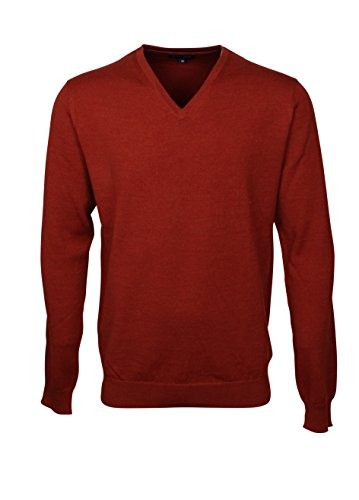 174615-3XL Bots & Bots - V-Neck Maglione da Uomo - Merino Wool - Normal Fit
