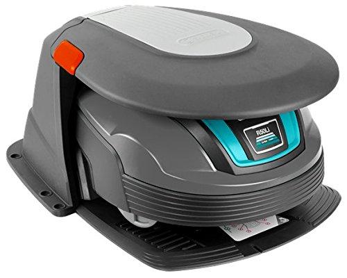 GARDENA Garage für Mähroboter: Unterstellmöglichkeit für Rasenroboter, Schutz vor Sonneneinstrahlung und Unwetter, klappbarer Deckel, witterungsbeständig, inkl. Befestigungsschrauben (4007-60) - 3