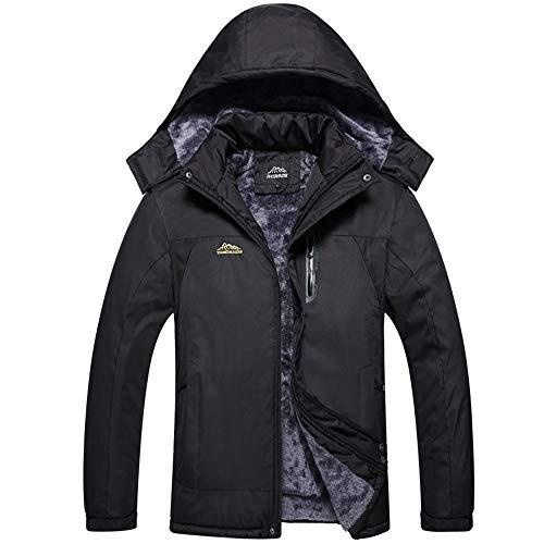 CICIYONER Warehouse Herren,Unisex-Jacke Wasserfeste Jacke-verstellbar, Outdoor Winterjacke, Kapuze, Regenjacke, Abnehmbare inneres Fleece, Taschen, Warme Kleidung M-5XL