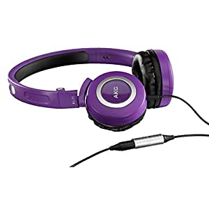 AKG K430 Mini On-ear Foldable Headphones with Integrated Volume Control 125 dB / 30 Mw - Purple