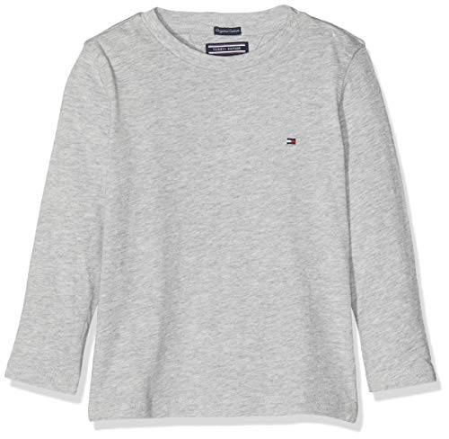 Tommy Hilfiger Jungen Boys Basic Cn Knit L/S T-Shirt, Grau (Grey Heather 004), 122