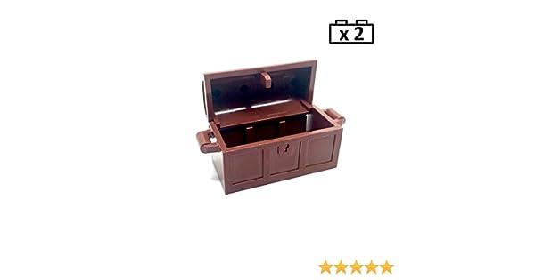 Pirate 2 x Lego empty treasure chests /& lid Parts – 4533101 /& 4211163