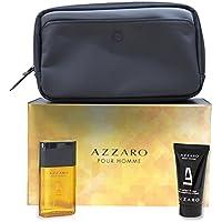 Azzaro Pour Homme Set Composta da Eau De Toilette 30 ml/Gel Doccia 50 ml e Borsa Cosmetici - Profumo Uomo