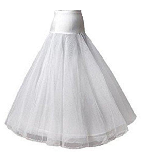 A-Linie Reifrock Neu 1 Ring Weiß Brautkleid Unterrock Petticoat Tüll 105 cm (Brautkleid Petticoat)