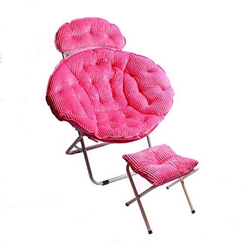 RUIX Home Klappstuhl Büro Sessel Mit Fußstütze, Geeignet Für Schlafzimmer, Wohnzimmer,Pink