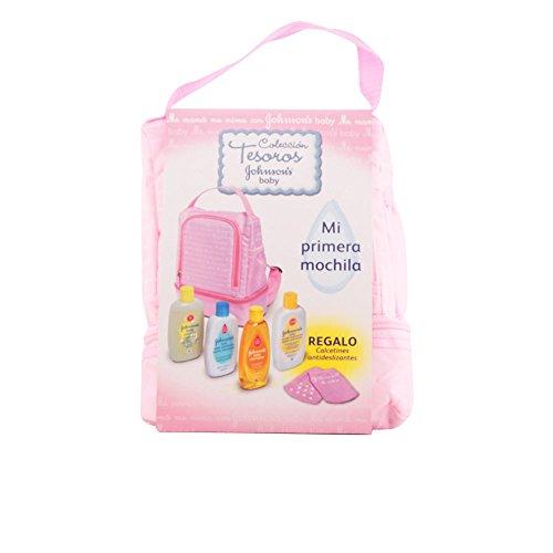 Johnson's Baby Mochila Rosa Set di Shampoo con Bagno Idratante, Lozione Idratante, Salviettine, Calzini Antiscivolo, Unisex - 700 ml