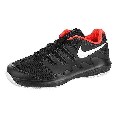 Nike Jr Vapor X, Scarpe da Tennis Bambino, Multicolore (Black/White/Bright Crimson 1), 38 EU
