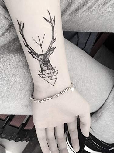 Europa Und Die Vereinigten Staaten Deer Tattoo Paste Moose Fawn Männliche Und Weibliche Wasserdichte Simulation Narbe Tattoo Aufkleber -