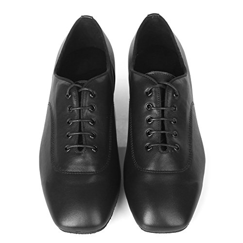 HIPPOSEUS Uomo Ballroom Scarpe da Ballo/Sala da Ballo Scarpe/Scarpe da Ballo Latino Standard di Leather,Modello-ITAF10 Nero-1