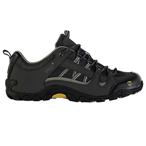 Gelert Mens Rocky Waterproof Walking Lace Up Breathable Outdoor Trekking Shoes Charcoal UK 8.5 (42.5)
