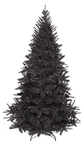Gartenpirat Albero Natale Artificiale Nero Modello Bristlecone - 1,85 m Frosted Ghiaccio
