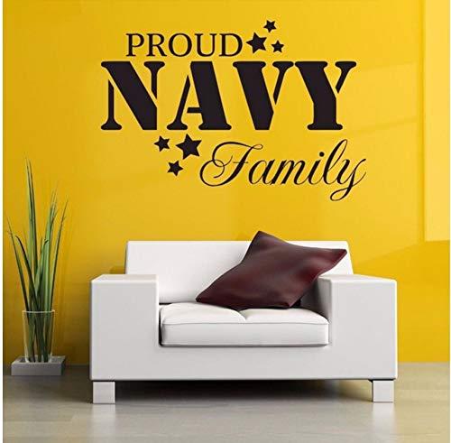 Lvabc Stolz Familie Naval Poster Wandaufkleber Für Wohnzimmer Süße Dekoration Abnehmbare Wandtattoos Hintergrund Vinyl Kunst 62X42 Cm (Familie Halloween Stolz)