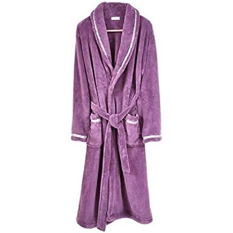 LIUDOUTraje de baño de paño grueso y suave coralino pijama franela vestido otoño invierno de los hombres ,