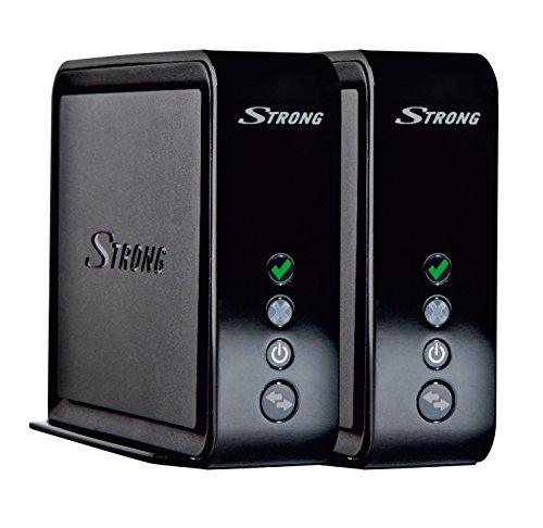 STRONG Connection Kit Duo 1700 (LAN-Bridge, entwickelt für Smart TV und Spielekonsolen, bis 1733 Mbit/s, 5 GHz Wifi, für Mesh WLAN, 2X LAN, WPS) schwarz