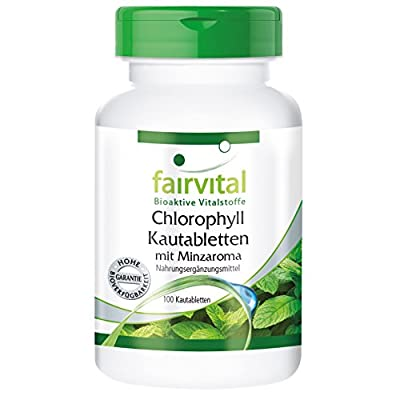 Fairvital - Chlorophyll Chewable Tablets with Mint Flavour - Vegetarian - 100 Tablets from fairvital