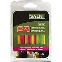 Salki 0430106 Barras Caliente En Color Flúor Ideal para Creatividades y Manualidades, FL&ampuacuteor, 7.5 mm, Set de 22 Piezas